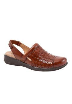 Salina Woven Mules by SoftWalk®, RUST, hi-res