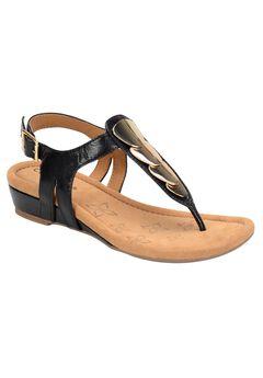 Comfortiva Thong Sandal 'Summit', BLACK, hi-res