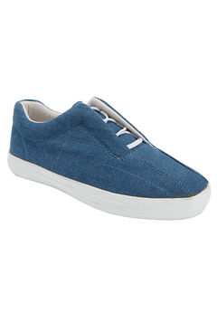 Bungee Slip-on Sneaker by CV Sport by Comfortview®, DENIM, hi-res