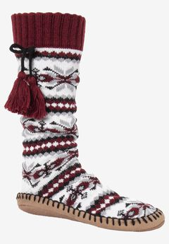 Slipper Socks with Tassels by Muk Luks,