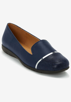 The Fia Flat by Comfortview®, NAVY