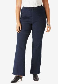 Bootcut Pull-On Stretch Jean by Denim 24/7®, INDIGO WASH