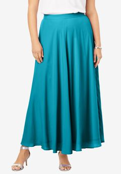 Georgette Maxi Skirt, DEEP TURQUOISE