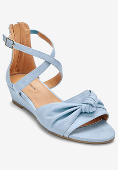 The Austen Sandal by Comfortview®, PALE BLUE