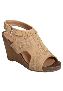 Waterfront Sandals by Aerosoles®, LIGHT TAN SUEDE, hi-res