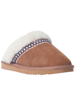 Dawn Suede Scuff Slipper by Muk Luks®, LIGHT BROWN, hi-res