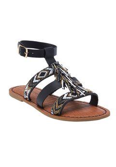 Preiscilla Sandals by Comfortview®, BLACK, hi-res