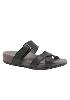 Brimley Sandals by SoftWalk®, BLACK, hi-res