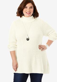 Ribbed Turtleneck Sweater,