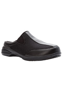 Washable Walker Slide by Propet®, BLACK MESH, hi-res