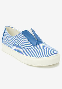 The Maisy Sneaker by Comfortview®, BLUE STRIPE