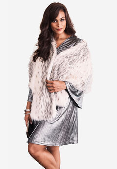 Faux-Fur Leopard Shrug by Donna Salyers Fabulous Furs,