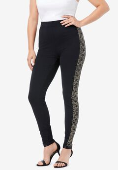 Side-Stripe Essential Stretch Legging,