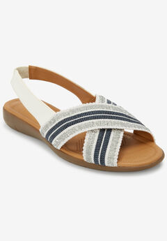 The Emma Sling Sandal by Comfortview®, WHITE