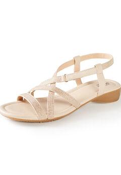 Good Soles Sparkle Strap Sandal,
