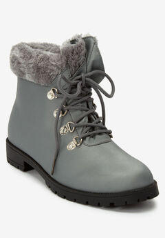 The Vylon Hiker All-Weather Bootie by Comfortview®, GREY