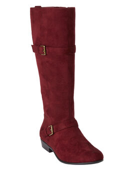 Henny Tall Calf Boots by Comfortview, BURGUNDY, hi-res