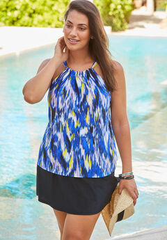 High-Neck Tankini Top,