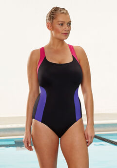 Aquabelle Xtra Life Lycra V-Back Swimsuit,