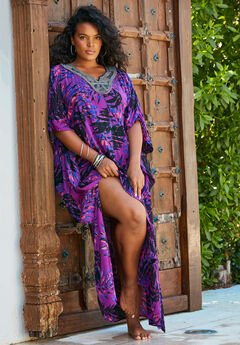Long Embroidered Coverup,