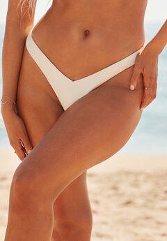 Camille Kostek 90s Baby Thong Bikini Bottom, PEARL