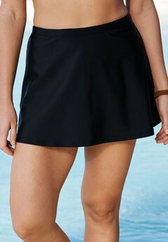 Swim Skirt, BLACK, hi-res