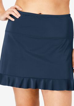 Ruffle-Trim Swim Skirt,