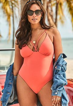 Ashley Graham Temptress One Piece Swimsuit,