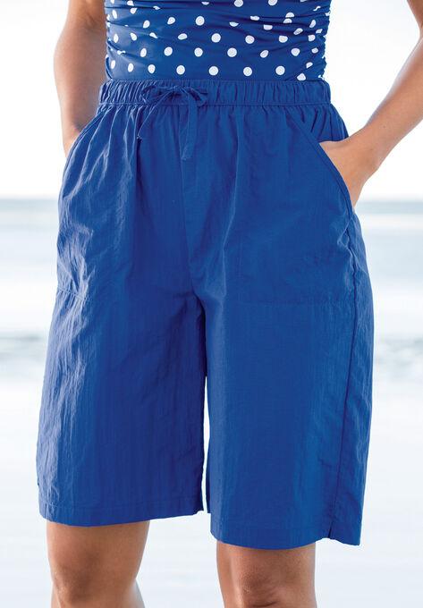 14be2123cc7 Taslon® Swim Board Shorts with Built-In Brief| Plus Size Swim ...