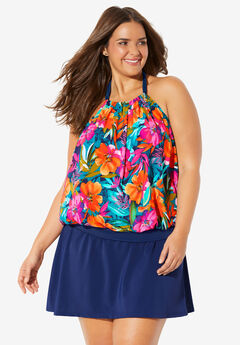 Blouson Tankini Top by Trimshaper® by Miraclebrand,