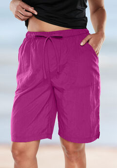 Taslon® Swim Board Shorts, BRIGHT FUCHSIA, hi-res