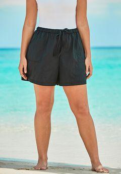 Taslon® Swim Shorts, BLACK