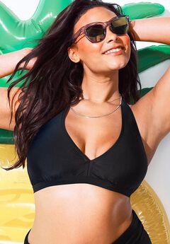 Diva Halter Bikini Top, JET BLACK