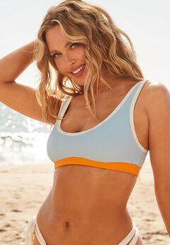 Camille Kostek Sporty Spice Bikini Top, CAMILLE BLUE GLOW