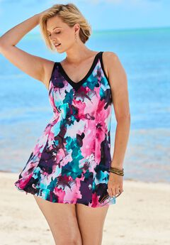 V-Neck Swimdress,