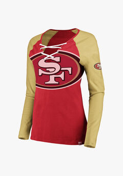 49ers Lace-Up Tee,