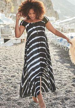 Harper Tie Dye Cover Up Maxi Dress,