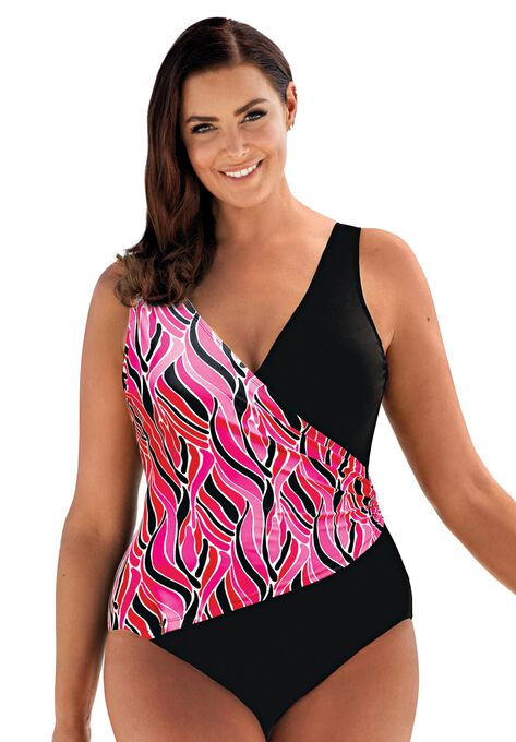 da2f55b4f9 Surplice Maillot by Beach Belle®| Plus Size Swim | Woman Within