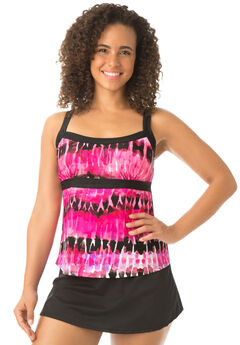 Empire Waist Swim Tankini Top by Beach Belle®,