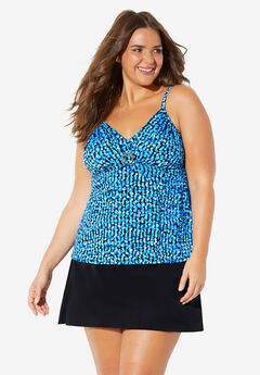 V-Neck Tankini Top by Trimshaper® by Miraclebrand,