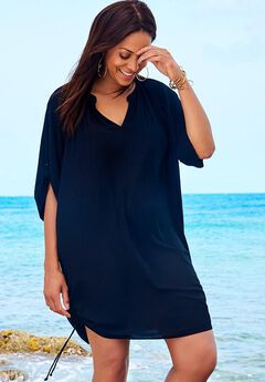 Abigail Cover Up Tunic, BLACK