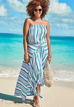 Riley Bandeau Cover Up Dress,