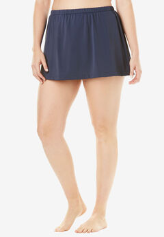 A-Line Swim Skirt by Maxine of Hollywood, NAVY, hi-res