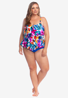 Two-Tier Tankini Top by Maxine of Hollywood,