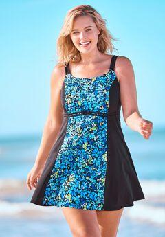 Colorblock Swim Dress By Fit 4 U®,