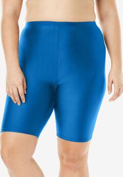 Chlorine Resistant Long Swim Bike Short,