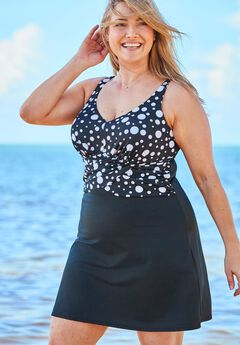 Faux Wrap Swimdress,