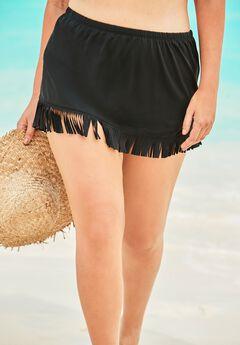 Fringe Swim Skirt,