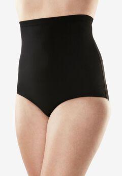 High-Waist Swim Brief, BLACK, hi-res