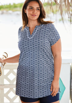 Swim Tunic, NAVY GEO